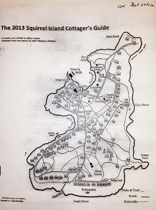 Squirrel Island Map