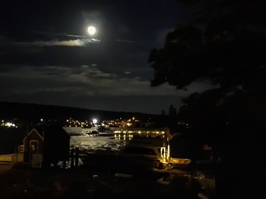 Boothbay at night
