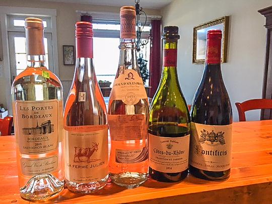 A Trader Joe's French Wine Tasting