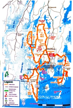 Cycling Around Boothbay